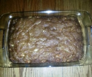 Lovina's deliciously moist raw apple cake.