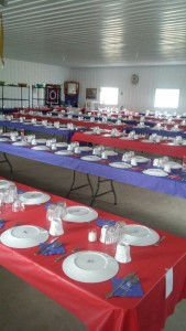 The tables are set for the big wedding day of Elizabeth, Lovina and Joe's oldest daughter, and Timothy.
