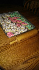 This week Lovina tells the story of her mother's rolling pin, pictured here.