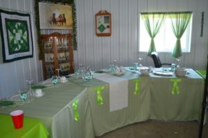 "The table, or ""eck corner,"" for the wedding party is set days in advance, as the family finishes final details."